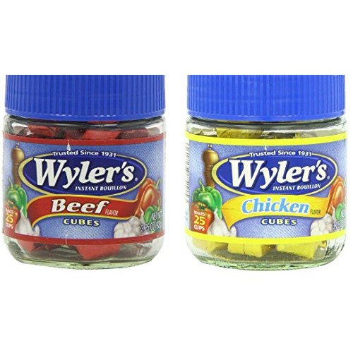 Wylers Bouillon Cubes Combo Pack - One Beef Flavor 3.25 oz. & O...