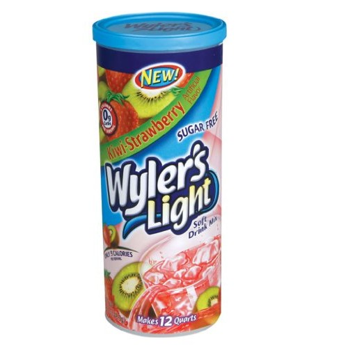 Wylers Light Sugar Free Drink Mix, Kiwi-Strawberry, 12- 1.69oz ...