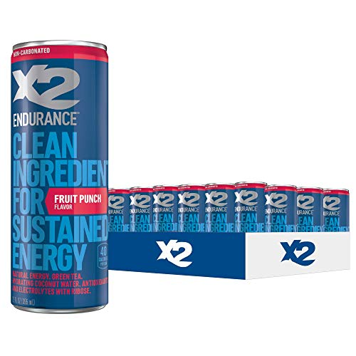 X2 ENDURANCE Fruit Punch - All Natural Hydrating Energy Drink: G...
