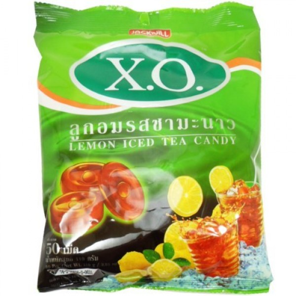 Lemon Iced Tea Candy Oval Shaped Net Wt 110 G 50 Pellets X 4 Bags