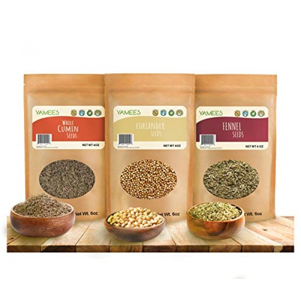 Cumin Seed, Fennel Seed and Coriander Seed - Ingredients for CCF...