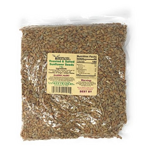Yankee Traders Brand Sunflower Seeds, Salted and Roasted, 2 Pound