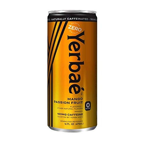 Yerbae Sparkling Water – Mango Passion Fruit Flavored Seltzer wi...