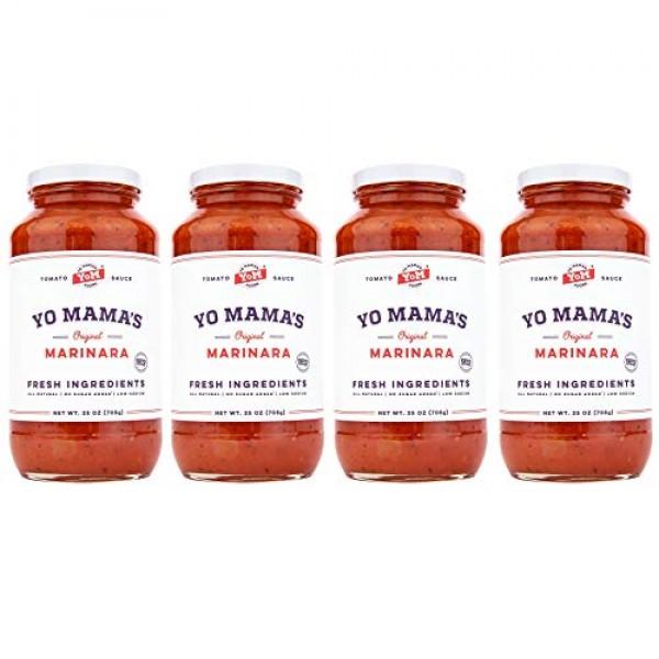 Keto Marinara Pasta Sauce by Yo Mamas Foods - 4-Pack - No Sugar...