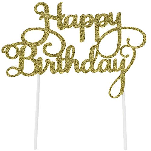 8 Pack Happy Birthday Cake Topper First Birthday Cupcake Topper,...