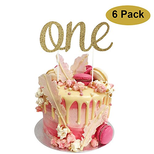 1st Birthday Cake Topper 6 pack