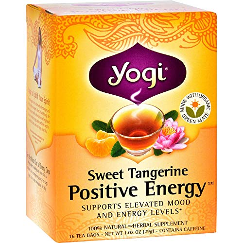 Yogi Positive Energy Herbal Tea Sweet Tangerine - 16 Tea Bags - ...