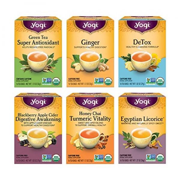 Yogi Tea - Digestion and Detox Tea Variety Pack Sampler 6 Pack...