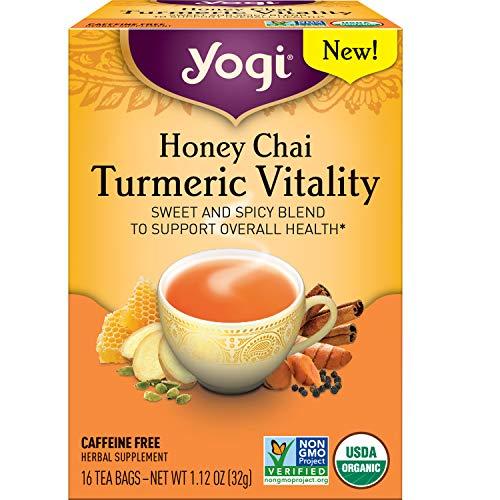 Yogi Tea - Honey Chai Turmeric Vitality 4 Pack - Sweet and Spi...