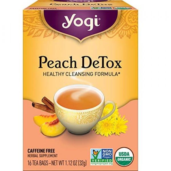 Yogi Tea - Peach DeTox 6 Pack - Healthy Cleansing Formula - 96...