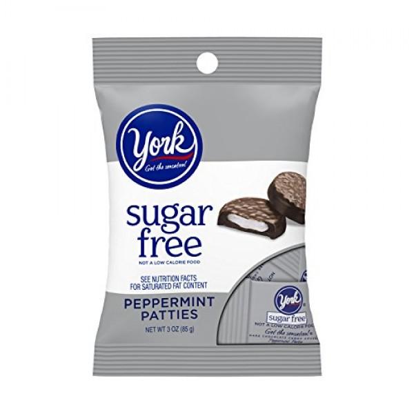 York Sugar Free Peppermint Patties Dark Chocolate Covered Mint C...