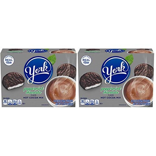 York Peppermint Chocolate Flavor Hot Cocoa Mix- Bundle of 2