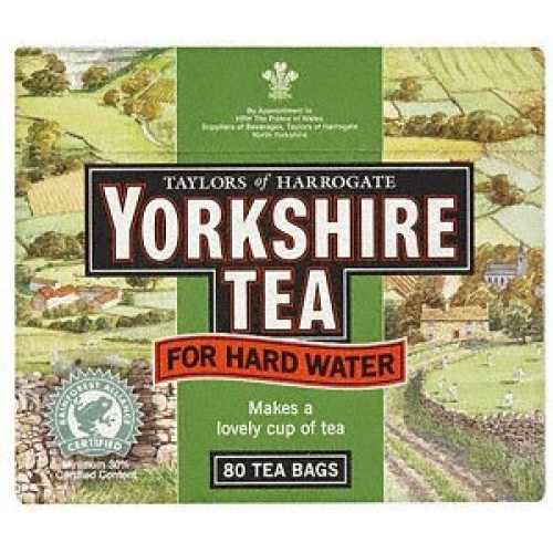 Yorkshire Tea Bags Hard Water 2 X 80 Pack