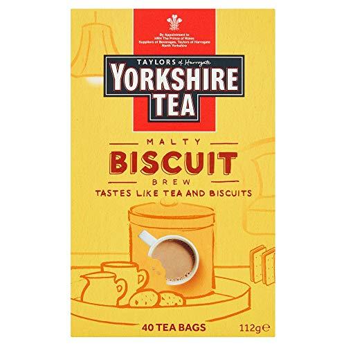 Yorkshire Tea Biscuit Brew 40 Tea Bags 100G Pack of 3