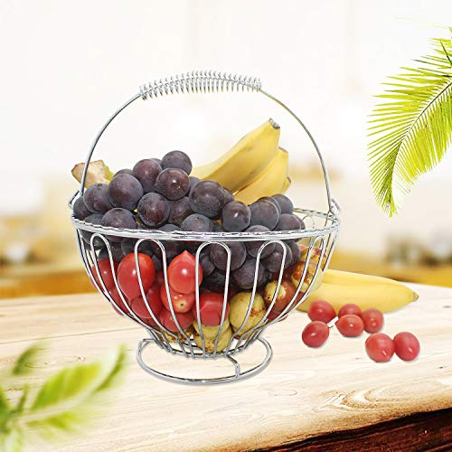 Stainless Steel Fruit Basket, Wire Serving Fruit Tray Storage Ba...