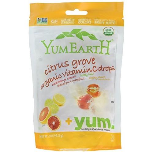 Yummy Earth Citrus Grove Vitamin C Drops, Gluten Free, 3.3000-ou...