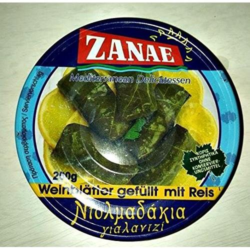 Zanae Stuffed Grape Leaves with Rice - Yalantzi Dolmadakia 200g-...
