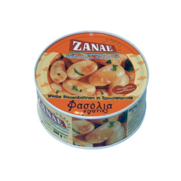 Zanae Greek Giant Baked Beans Gigantes 10 Oz Easy-open Can