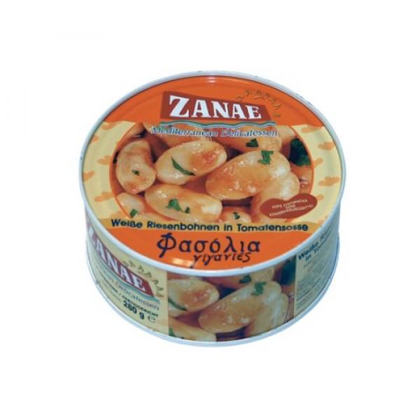Zanae Greek Giant Baked Beans Gigantes 10 Oz Easy-open Can