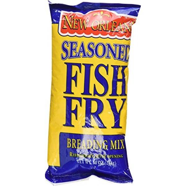 Zatarains New Orleans Seasoned Fish Fry Breading Mix, 10 Ounces...
