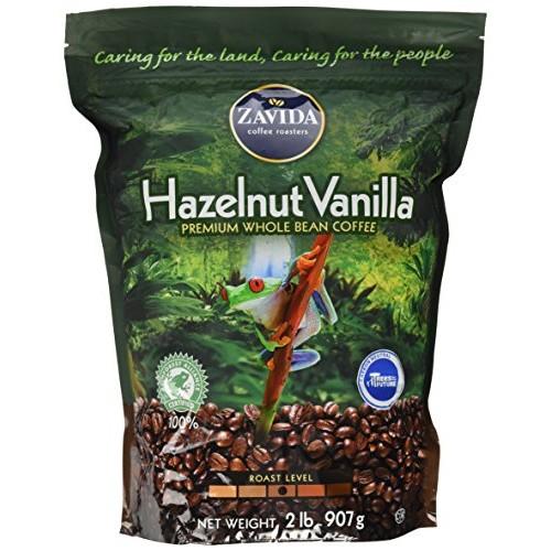 Zavida Hazelnut Vanilla Whole Bean 32 OZ, 32 Ounce