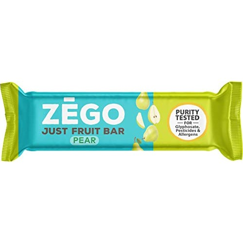 ZEGO Just Fruit Bars, Pear, Non GMO, Vegan, Gluten Free, 25g Pa...