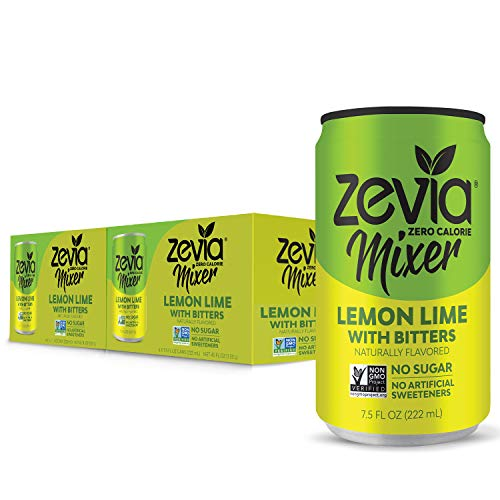 Zevia Lemon Lime With Bitters, 7.5 Oz Can 12 Count Zero Calori...