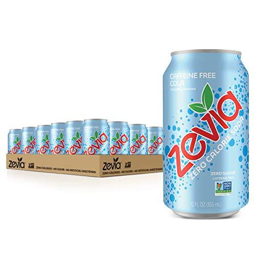 Zevia Zero Calorie Soda, Caffeine Free Cola, Naturally Sweetened...
