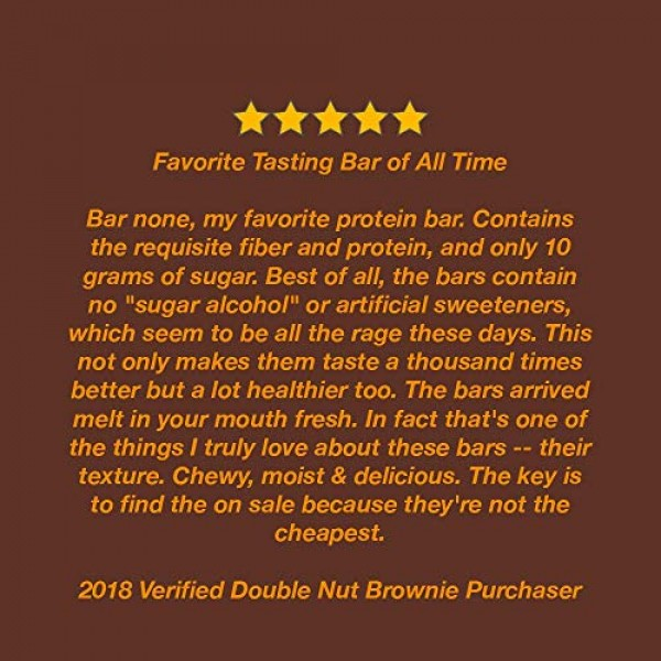 Zing Plant-Based Protein Bar   Double Nut Brownie, 12 Count   Mo...