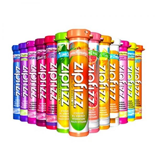 Zipfizz Healthy Energy Drink Mix - 0 Sugar - B12 Hydration Multi...