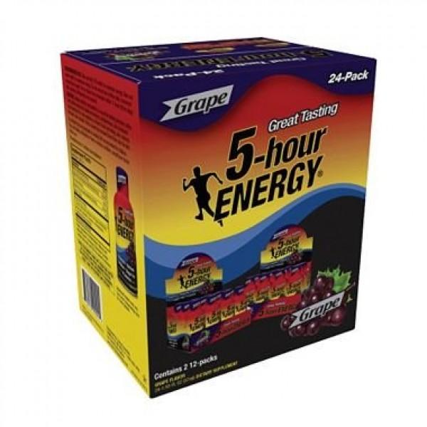 5-Hour Energy Shot, Grape 1.93 oz. ea., 24 pk.- 2 PACKS