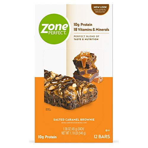 ZonePerfect Protein Bars, Salted Caramel Brownie, 10g of Protein...