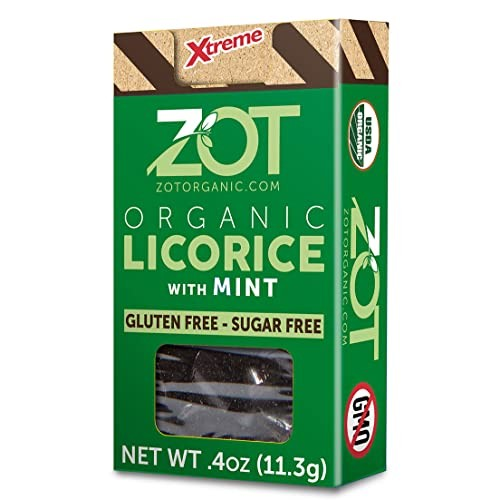 ZOT 100% Organic Licorice with Mint, 0.4-Ounce Flip Top Boxes P...