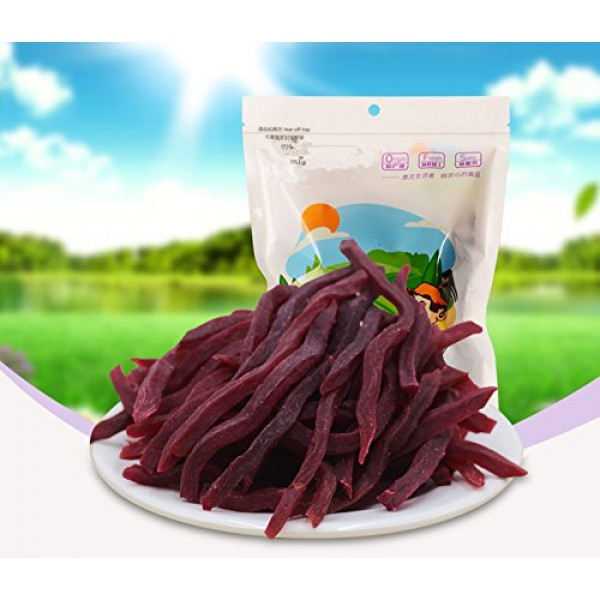 Chinese Traditional Snack Chewing Soft Sweet Purple Potato Chips...