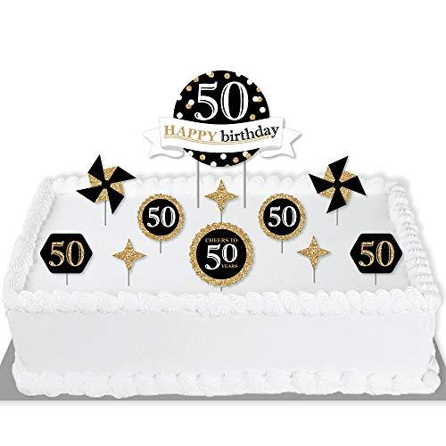 Tremendous Big Dot Of Happiness Adult 50Th Birthday Gold Birthday Personalised Birthday Cards Akebfashionlily Jamesorg