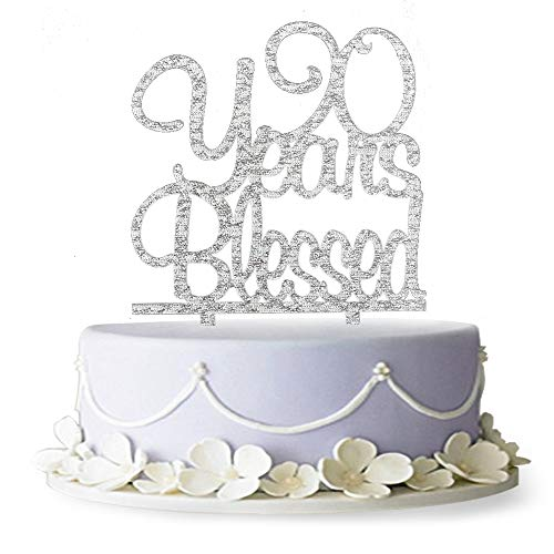 Magnificent 90 Years Blessed Acrylic Cake Topper 90Th Birthday Anniversary Personalised Birthday Cards Veneteletsinfo