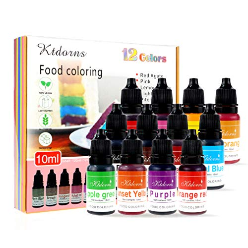Food Coloring - 12 Color cake food coloring liquid Variety Kit f...