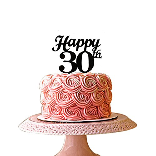 Happy 30th Cake Topper For Birthday Anniversary Party Deco