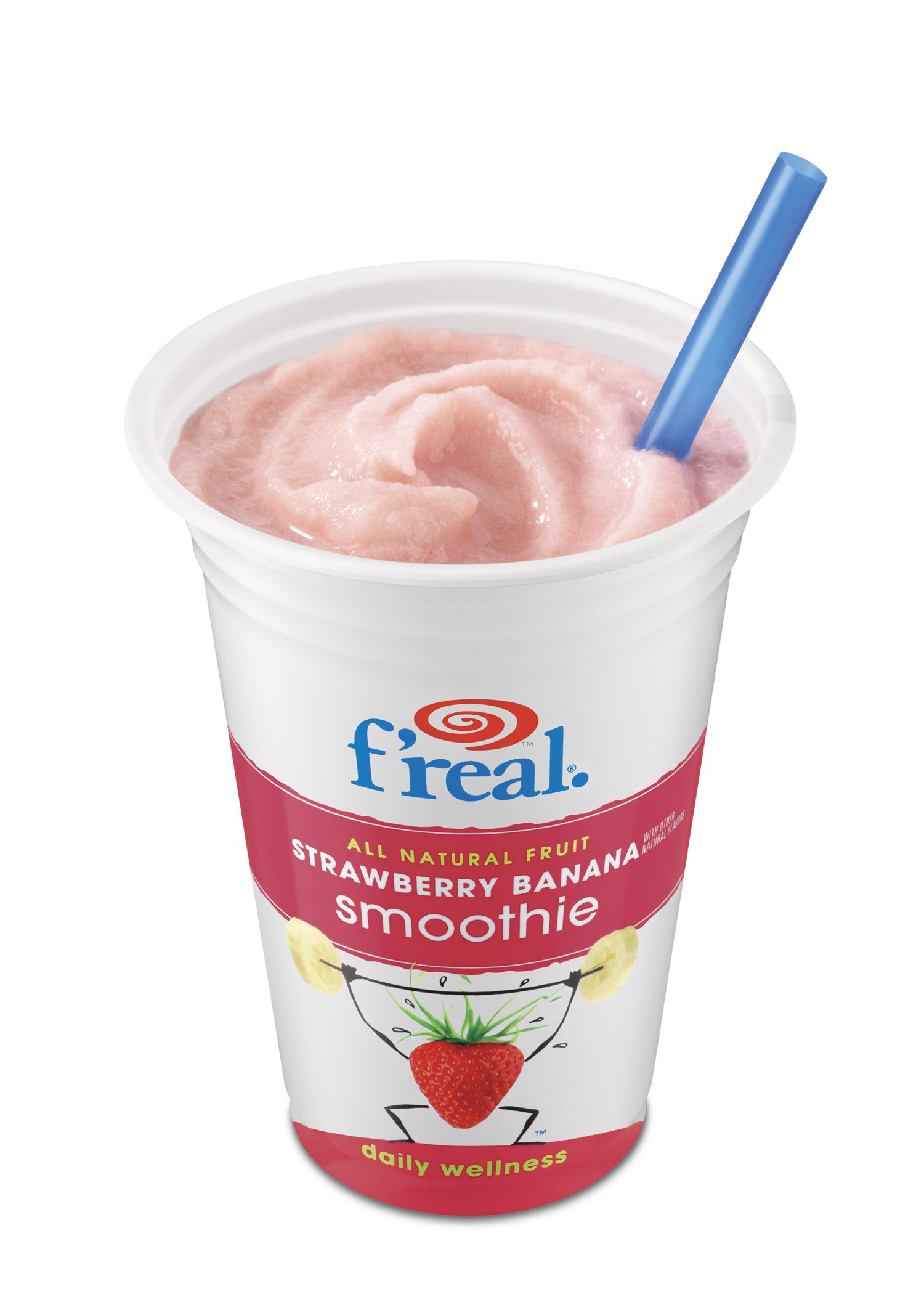 f'real® Strawberry-Banana Smoothies