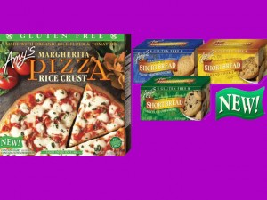 Gluten-free cookies and Margherita Pizza in Rice Crust