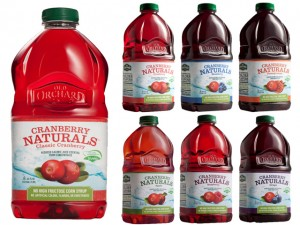 naturally-sweetened juices.