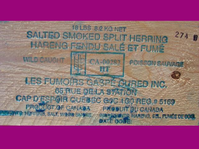 Salted Smoked Herring