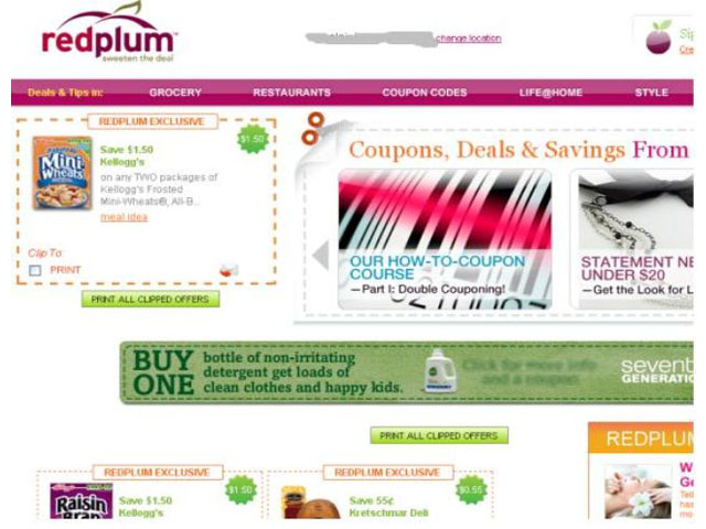 RedPlum Coupons