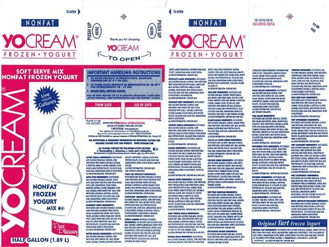 YoCream Frozen Yogurt Mix Recall