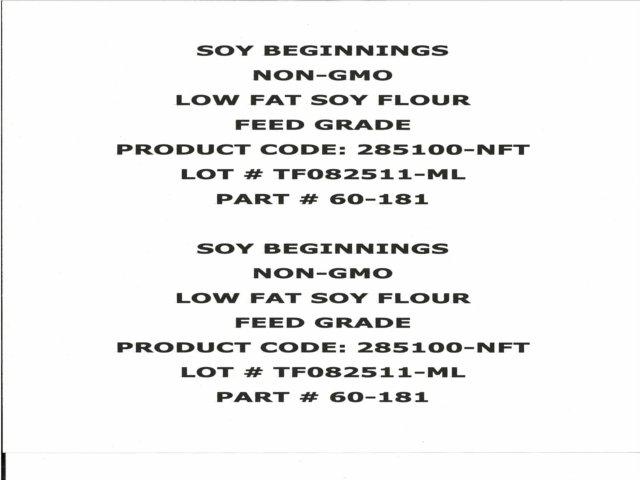 Soy flour Recall