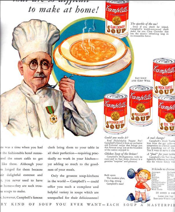 campbells soup vintage 2
